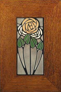 Dard Hunter Tea Rose 4x8 Tile - Product Image