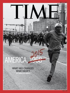 "America 1968 Baltimore Riots 2015 Time Magazine Cover-  Black men dying at the hands of police had become ""a slow-rolling crisis"" in America, as President Obama would put it nine days after Gray's death. And Freddie Gray was a black man who entered a police van handcuffed and conscious on April 12 and came out less than an hour later comatose, with his spinal cord nearly severed.  The what, the how and the why of Gray's fatal encounter with Baltimore police remained a mystery more than two…"