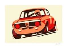 Alfa Romeo print by Guy Allen | Car Gifts, Motoring Gifts and Merchandise | Gearbox Gifts