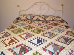 Lady of the Lake Queen Size Quilt. $250.00, via Etsy.