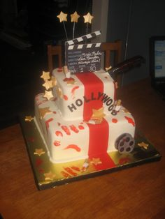 Hollywood Murder Mystery Party Birthday Cake