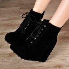 Wedge Ankle Boots, High Heel Boots, Heeled Boots, Shoe Boots, Platform Boots, Boot Heels, Boots With Heels, Black Heels, Ankle Shoes