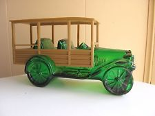 Vintage Green Glass Avon Truck with removable top
