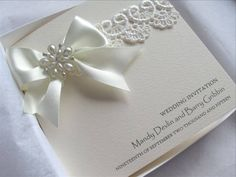 Best Vintage Lace Wedding Invitation With Satin Pearls Luxury Boxed