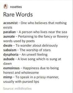 Rare Words to Use Writing Tools
