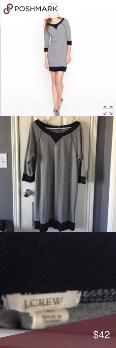 NEW LISTING! J.Crew Raglan grey and navy dress Grey and navy raglan dress from J.Crew retail. Great condition, size L. Materials: 51% cotton, 32% polyester and 17% rayon. J. Crew Dresses