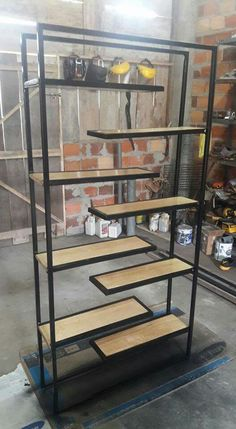 New Living Room Grey Black Apartment Therapy Ideas Industrial Shelving, Industrial Interiors, Industrial Furniture, Industrial Lighting, Industrial Stairs, Industrial Style, Ikea Industrial, Industrial Bedroom, Vintage Industrial