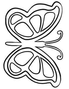 A Very Unique Butterfly Shape And Cute Coloring Pages