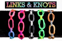 Links and Knots Bracelet on Rainbow Loom and Monster Tail