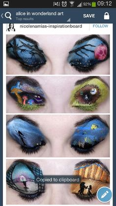 Disney makeup. Creepy and awesome at the same time!