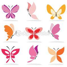 conjunto de iconos de mariposa — Vector stock © baldyrgan #11474463