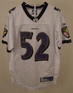 27b42090e Reebok Baltimore Ravens Jersey  52 Ray Lewis NFL Youth Large (14-16)