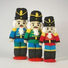 Nutcracker Dolls Knitting pattern by Claire Fairall Fair Isle Knitting Patterns, Christmas Knitting Patterns, Knitted Christmas Decorations, Christmas Ornaments, Christmas Tree, Christmas Music, Christmas Movies, Christmas Stockings, Christmas Ideas