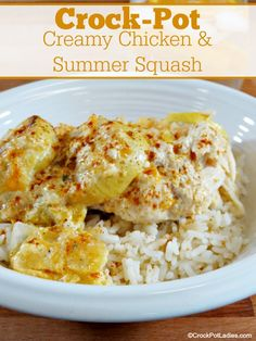 Make the most of fresh summer squash with this easy recipe for Slow Cooker Creamy Chicken and Summer Squash.
