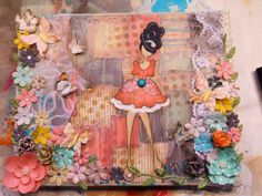 A Bit of Betsy: Mixed Media Prima Doll Canvas w/ a video of her process