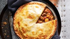 Beef and beer pie: Hail the hearty beef pie – it's the perfect footy-watching food. You'll be kicking goals with this one! #pie #recipe
