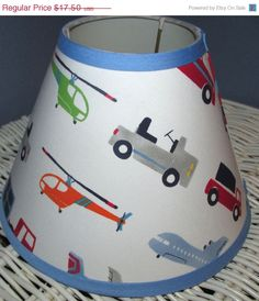 ON SALE BRODY Boys Transportation Cars and Trucks Vehicles Lamp Shade made 2 match Pottery Barn Kids