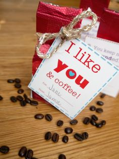 I like you and coffee! Free printable Valentine for adults!
