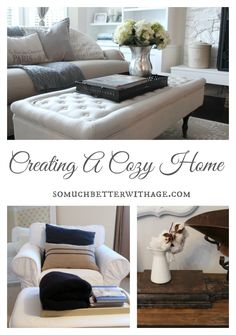 Creating A Cozy Home by So Much Better with Age My Home Design, Home Interior Design, Home And Living, Furniture, Home Remodeling, Home Diy, Family Room, Cozy House, Home Decor