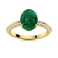 An oval shaped gemstone of your choice in the centre and a gorgeous uniquely designed band which features 48 sparkling diamonds is what make Canisa a winner. Natural Emerald Rings, Love Ring, Shades Of Green, Vintage Rings, Ring Designs, Centre, Heart Ring, Gemstone Rings, Diamonds