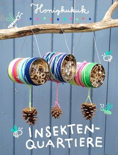 – Honigkukuk Insektenquartiere aus Blechdosen basteln Related posts:Decorate crafts letters with small objects 🙂 -- A ton of DIY super easy kids cr.Adorable AmigurumiEasy Caterpillar Craft for. Insect Crafts, Nature Crafts, Garden Crafts, Garden Kids, Insect Hotel, Bug Hotel, Kids Crafts, Diy And Crafts, Upcycled Crafts