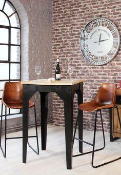 amazing mange debout bois et mtal style industriel with mange debout maison du monde. Black Bedroom Furniture Sets. Home Design Ideas