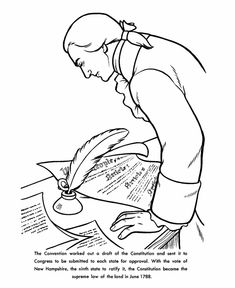 the constitution of the united states coloring page
