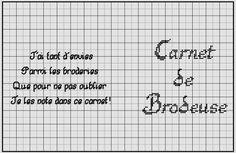 brodeuse - embroiderer - étiquette - carnet de brodeuse - point de croix - cross stitch - Blog : http://broderiemimie44.canalblog.com/