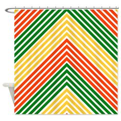 Saytoons: Rasta Stripes Shower Curtain: Our Colorful Rasta Stripes Pattern  With A New Angle!
