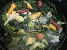 Homemade Vegetable Stock from leftover vegetable scraps! By These Light Footsteps