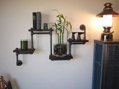 Industrial Plumbing Pipe Shelf  Four Tier by vintagepipedreams, $149.00
