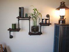 Industrial Plumbing Pipe Shelf  Four Tier by vintagepipedreams, $149.00