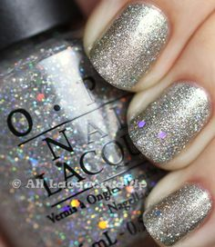 OPI Your Royal Shine-ness + Servin Up Silver = Perfect New Year's Eve manicure