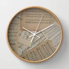 A personal favorite from my Etsy shop https://www.etsy.com/listing/257764859/vintage-music-wall-clock-music-clock