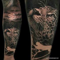 Hyperrealistic cat tattoo cheetah by József Török Leopard Tattoos, Snow Leopard Tattoo, Animal Tattoos, Forarm Tattoos, Boy Tattoos, Body Art Tattoos, Hand Tattoos, Tattoos For Guys, Tatoos