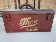 Vintage Metal Thor Electric Saw Box Tool Box or by handitdown, $49.99