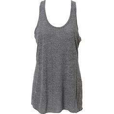 Simplex Apparel Triblend Slub Womens Racerback Tank (26 AUD) ❤ liked on Polyvore featuring tops, grey, grey racerback tank, gray tank top, grey top, racer back tops and gray top