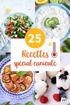 25 special recipes heatwave, refreshing and without cooking to survive c … Caesar Salat, Caprese Salat, Healthy Dinner Recipes, Cooking Recipes, Coconut Recipes, Special Recipes, Food Inspiration, Food To Make, Good Food