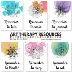 8 Types of Art Therapy To Help Your Clients Art Therapy Digital Coping Cards Art Therapy Projects, Art Therapy Activities, Therapy Tools, Play Therapy, Therapy Ideas, Types D'art, Poster Graphics, Art Therapy Directives, Creative Arts Therapy