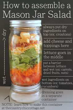 Salad In A Jar Recipes and Lesson