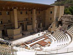Teatre romà de Sagunt    Roman theater, buit c. A.D. 50 and restored in 1994, Sagunt (València).