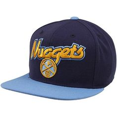 fe367eac062 NBA adidas Denver Nuggets Two-Tone Wool Blend Snapback Hat
