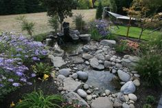 small yard pond, well done