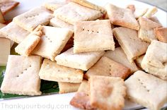 gluten free baked Parmesan crackers