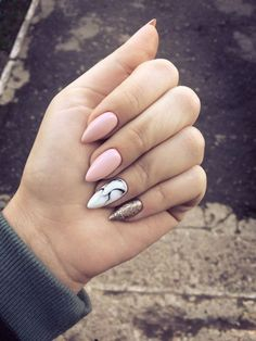 Manicure e pedicure - birthday nails - Unhas Perfect Nails, Gorgeous Nails, Love Nails, My Nails, Pink Nails, Classy Nails, Trendy Nails, Marble Nail Art, Prego