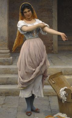 Eugene de Blaas (Italian Painter,1843 -1932)The Laundress