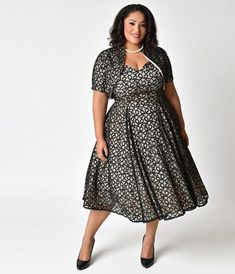 A fountain of youth, dears! The Sophia Dress is a gorgeous plus size vintage style wiggle with a simply stunning portrait neckline in a sultry V shape and semi-off shoulder design. The beautiful ruffled cowl drapes elegantly over your bust and down your arms for a fluttery cap sleeve style, while the luxuriant fitted silhouette is crafted in a soft knit blend to shape to your favorite curves. Complete with back vent for ease of movement and hidden back zipper and hook to tuck you in, Sofia…