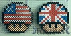 American and British Mushrooms perler beads by PerlerPixie