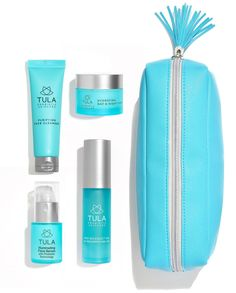 TULA Probiotic Skin Care Discovery Kit Travel-friendly Facial Cleanser New Beauty Secrets, Beauty Hacks, Beauty Tips, Probiotic Skin Care, Tula Skincare, Skincare Routine, Discovery Kit, How To Grow Eyebrows, Get Rid Of Blackheads
