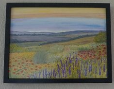 Items similar to Garden With A View, Original art, framed on Etsy Paintings For Sale, Painting, Art, Seascape, Top Paintings, Landscape Art